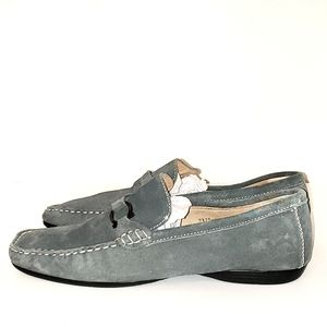 Masimo Gray Leather Loafer Size 7.5